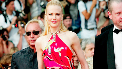 In a vibrant halter Pucci dress in 2003, Nicole Kidman attending the opening of her new movie 'Dogsville'.
