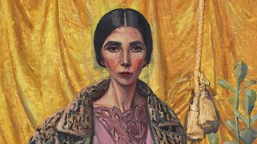Archibald Prize 2018 winner Yvette Coppersmith's painting 'Self-portrait, after George Lambert'.
