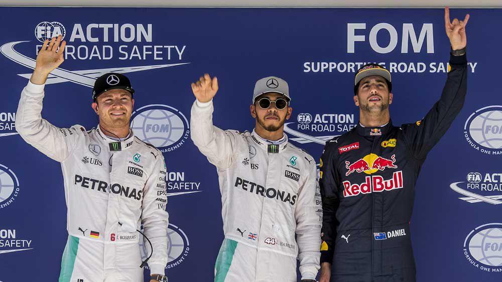 Daniel Ricciardo grabbed third spot on the grid for the US Open. (AAP)