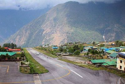 <strong>Nepal: The Tenzing-Hillary Airport in Lukla</strong>
