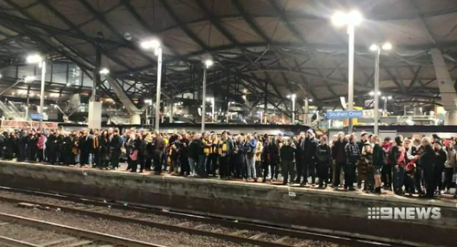 Thousands of footy fans were left fuming last night when a mass shutdown at two Melbourne train stations left them stranded.