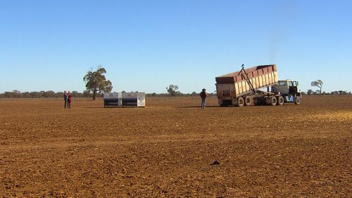 The drought struggle has captivated Australia as farmers battle to stay afloat. Image: 9News