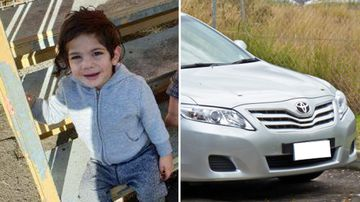 Arsalan Fard (left) and an image of a similar car believed to have been used to drive him to hospital.