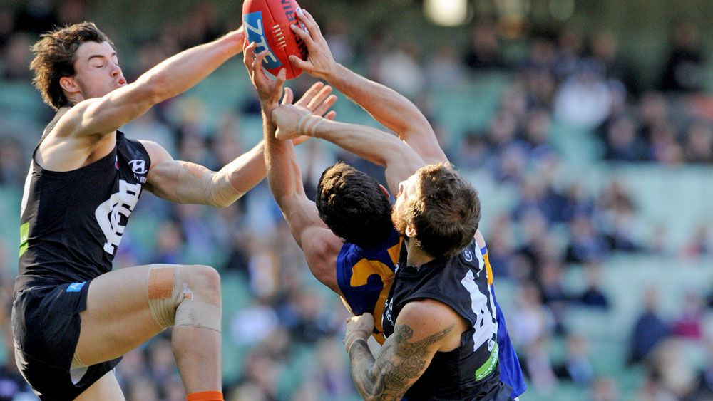 Scratchy Eagles hold off AFL Blues