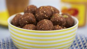 Will and Steve's peanut butter and toasted coconut protein balls