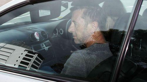 AC/DC drummer Phil Rudd leaves Tauranga District Court on November 6. (Getty)