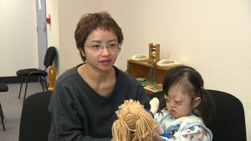 The mother of two-year-old Lam Nguyen flew her from Vietnam to Adelaide to undergo a life-changing surgical procedure. Picture: 9NEWS.