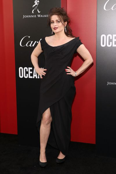 Helena Bonham Carter in Vivienne Westwood at the New York City premiere of <em>Oceans 8</em>