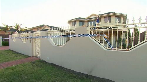 Police said this house at Bonnyrigg in western Sydney was targeted in the shooting.
