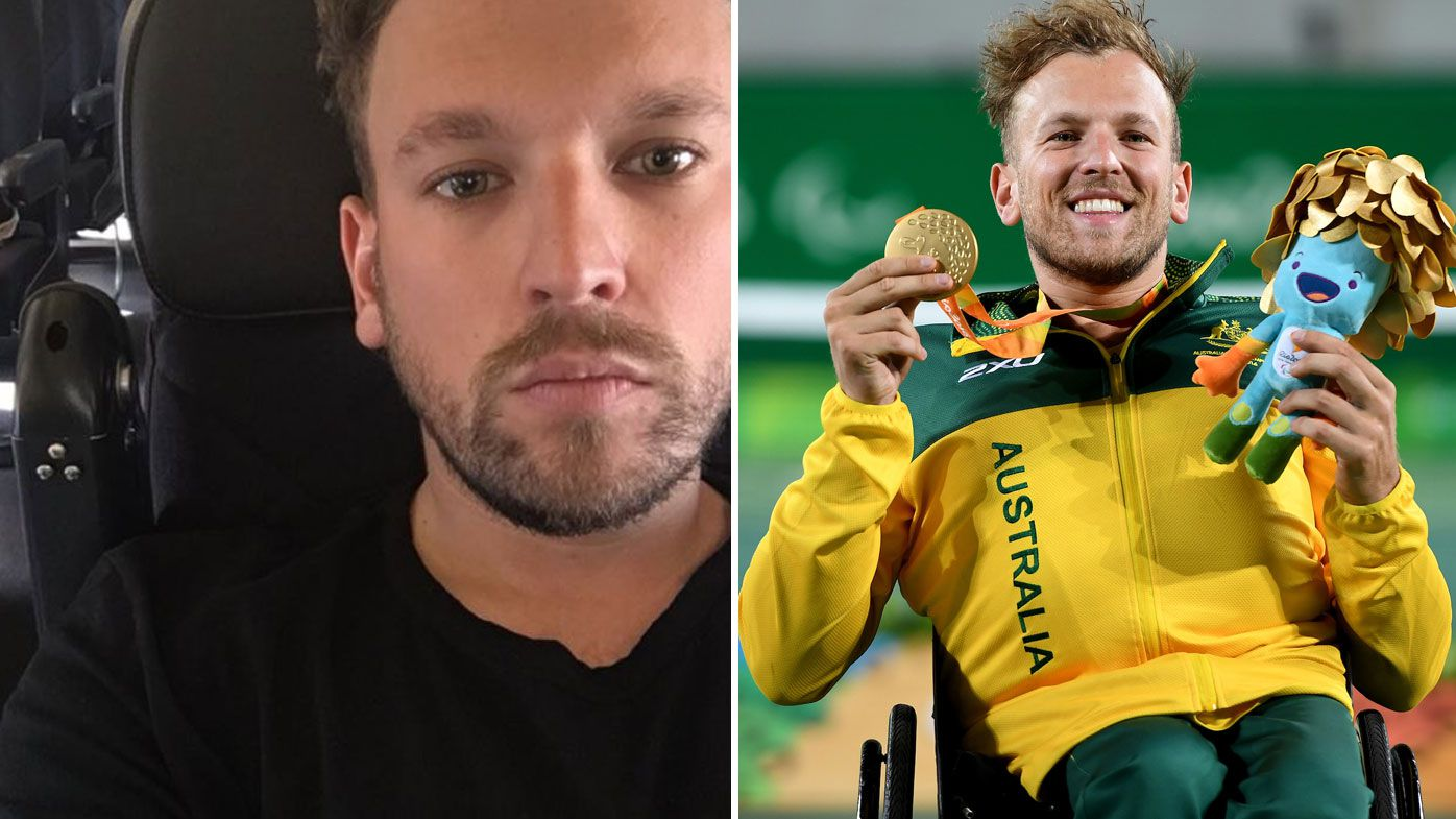 Australian Paralympic champion Dylan Alcott left stranded on plane without wheelchair
