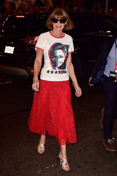 Vogue Editor in Chief Anna Wintour in New York, October, 2016
