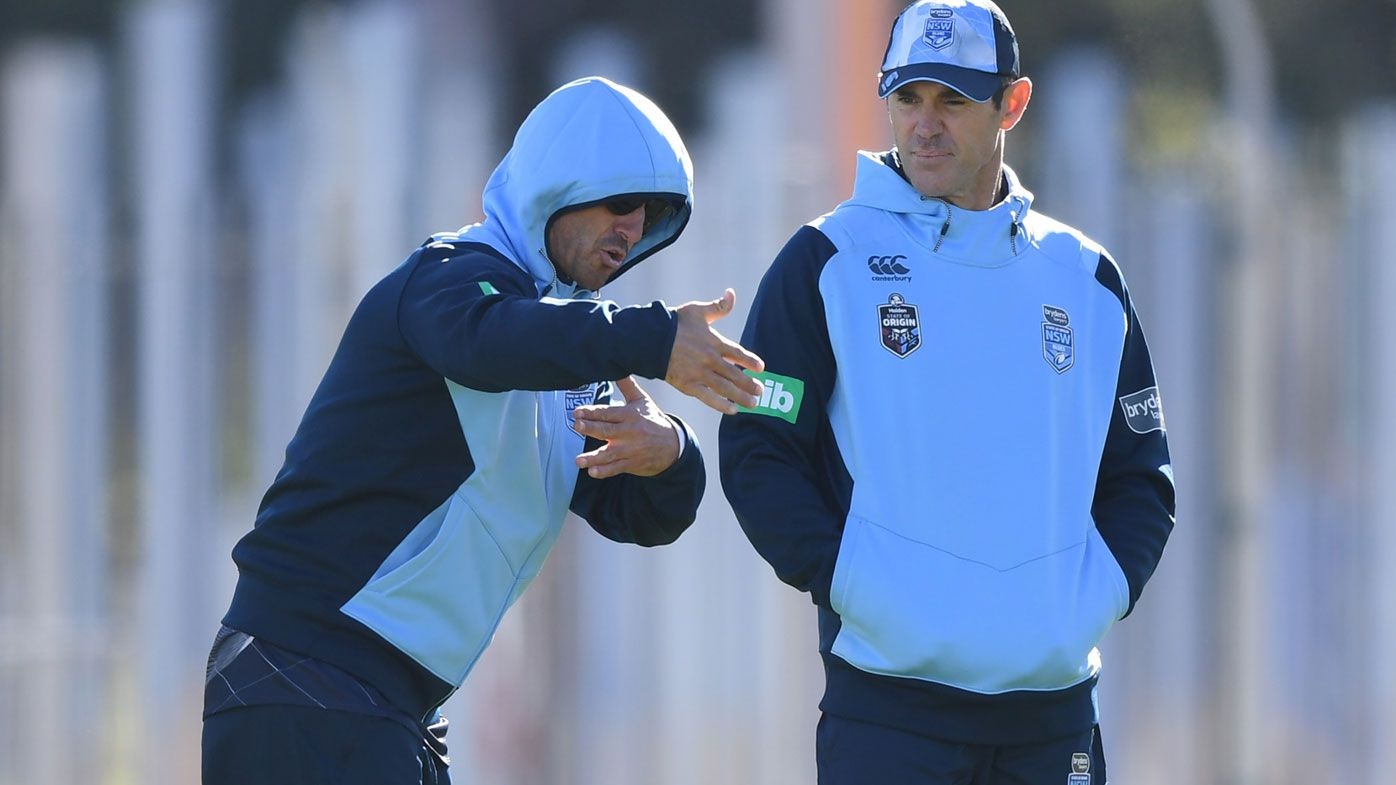 Andrew Johns and Brad Fittler at NSW training.