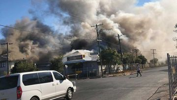 The massive fires shrouded the town of Bourke in smoke.