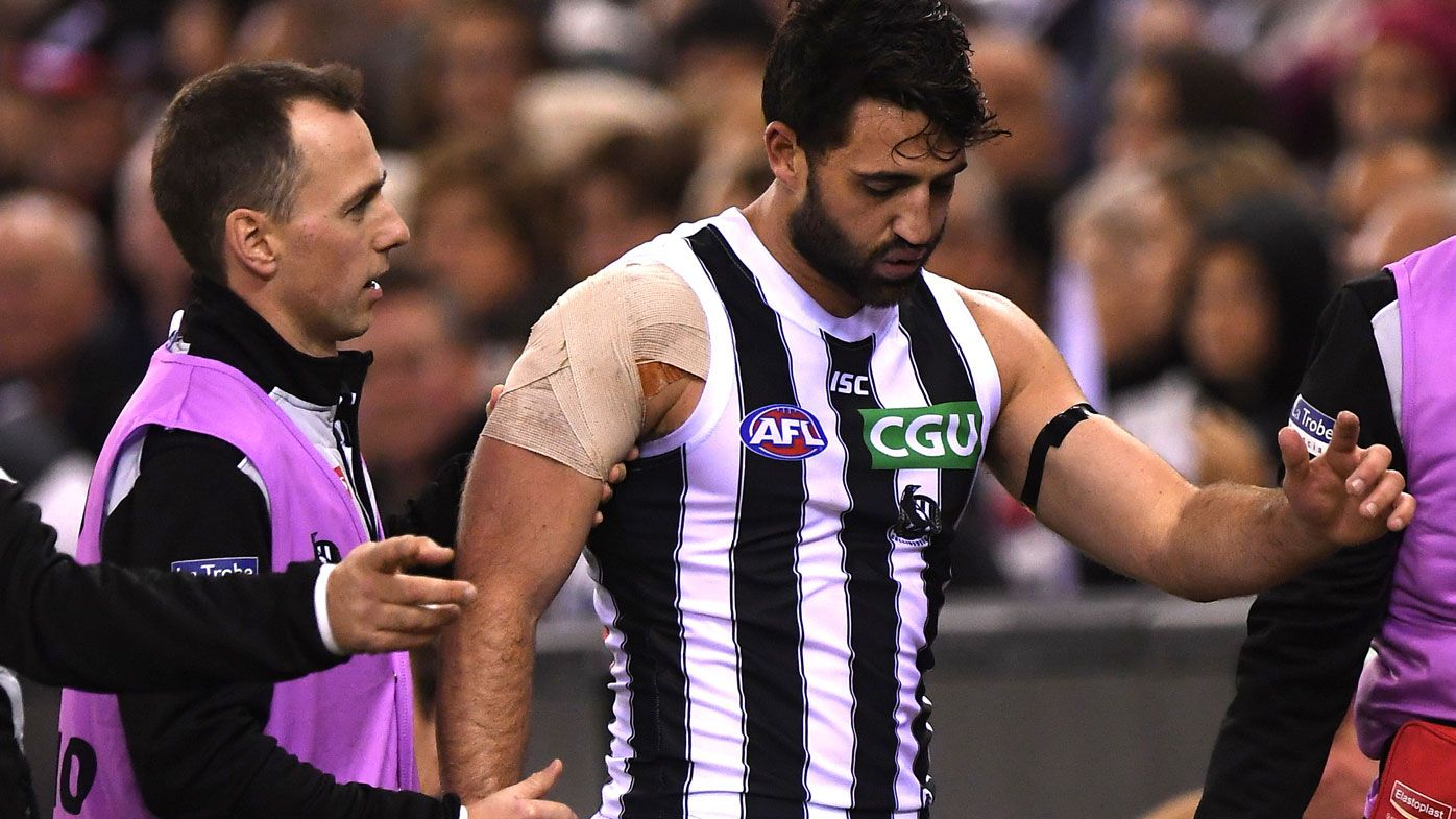 Collingwood forward Alex Fasolo out for up to seven games for Magpies with ankle injury