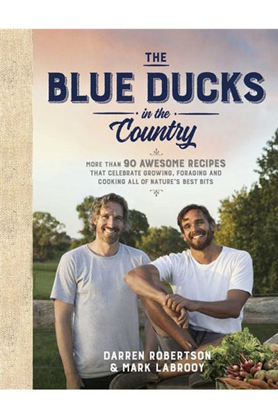 "<p><a href=""https://www.panmacmillan.com.au/9781925481440/"" target=""_top"">The Blue Ducks in the country</a>, by Darren Robertson & Mark Labrooy, Paperback AUD $39.99 </p> <p>If you know the boys from The Three Blue Ducks in Sydney and followed their foray up to Byron to open The Farm, then you'll want to share all their fun and delicious recipes with dad. </p>"