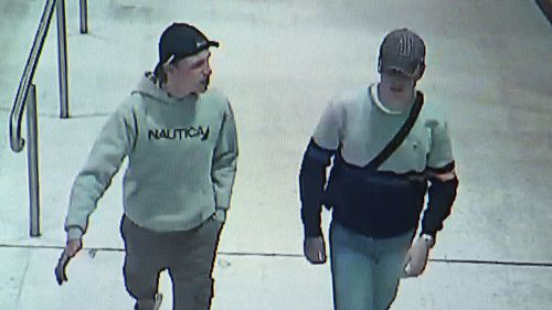 Police are hunting for a man (left) they believe can assist them with their inquiries. (NSW Police)