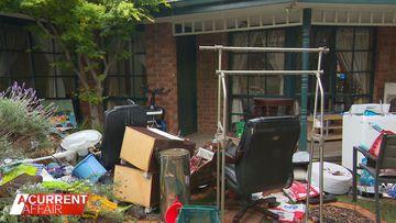 Stranger moves into stranded family's home