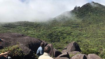Expedition team on Thorton Peak. (Photo credit: Dr Matt Renner, Royal Botanic Garden Sydney)