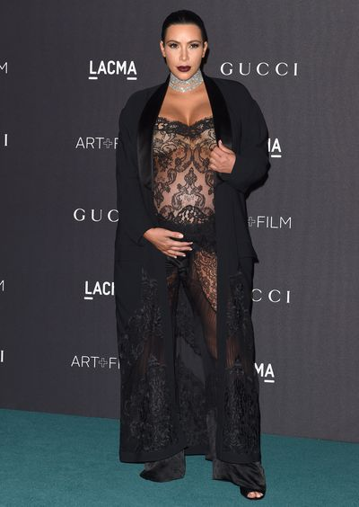 Kim Kardashian West in Givenchy at the 2015 LACMA Film and Art Gala