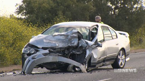 Scott had reached speeds of up to 169km/h in the minutes leading up to the crash. (9NEWS)