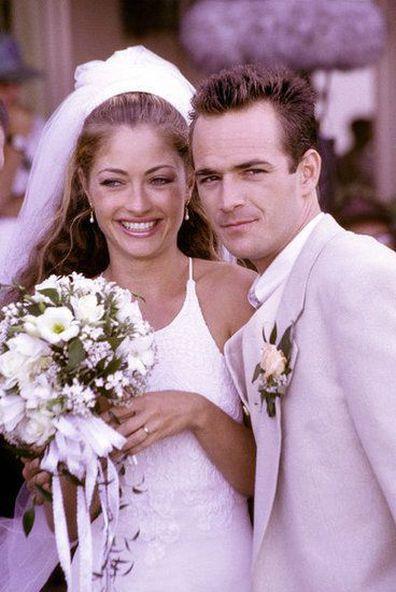Rebecca Gayheart and Luke Perry on Beverly Hills, 90210
