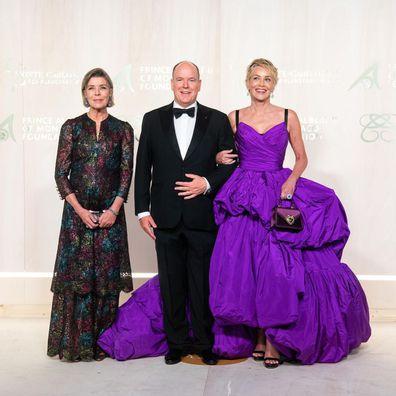 Princess Caroline, Prince Albert and actress Sharon Stone.