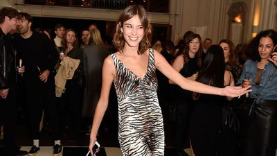 """Alexa Chung in archive H&M delivers seventies style.<span class=""""Apple-tab-span"""" style=""""white-space: pre;""""></span>"""