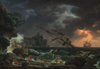 <strong>A shipwreck painting</strong>
