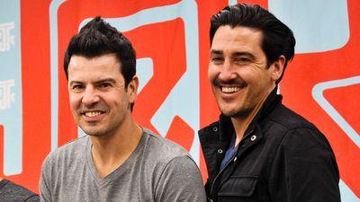 New Kids on The Block's Jonathan Knight (right)