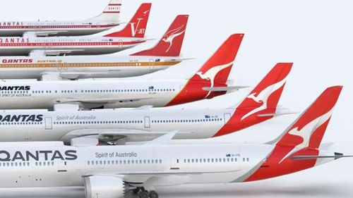The evolution of the national carrier's branding. (Qantas)