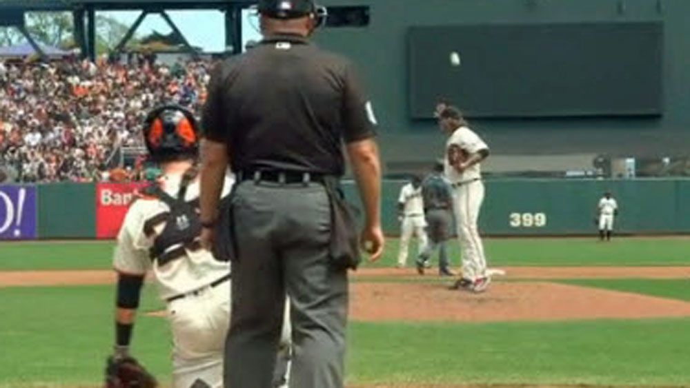 Baseball: MLB catcher shows he should pitch with perfect throw