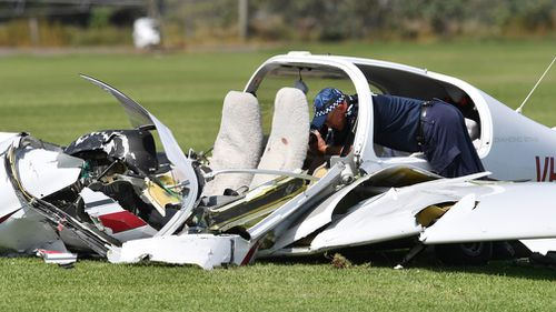 Two men died in the light plane crash at Allenview. (AAP)