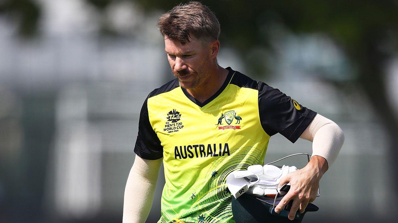 David Warner of Australia walks off after being dismissed
