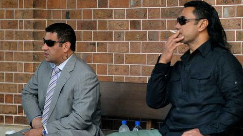 Sam Ibrahim and Semi Ngata outside court in 2009. Picture: AAP