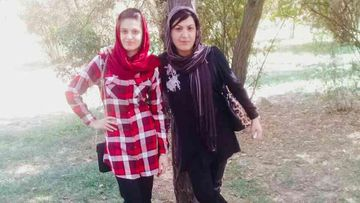 Melbourne woman Rana Haydari, pictured with her youngest sister Diana, during a trip home to Afghanistan in 2017.