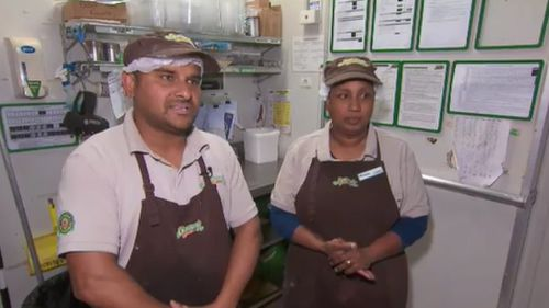 """The owners of the Hampton Park store said they """"live in fear"""" following the robbery. (9News)"""