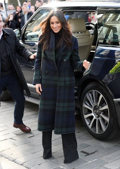 Meghan Markle in Burberry at Edinburgh Castle. February 2018