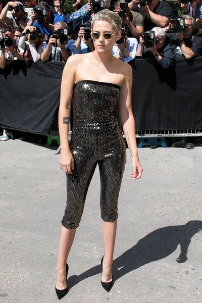 Kristen Stewart stepped up her usual tomboy game in this dazzling number, fulfilling her duties as a Chanel ambassador.