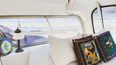 Tour a tiny home converted from a 1966 Greyhound bus