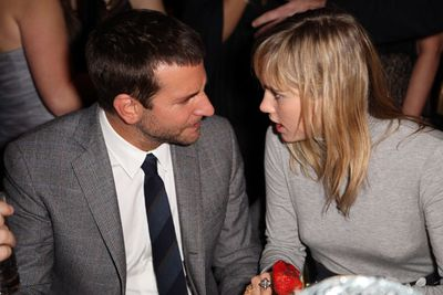 Bradley Cooper and Suki Waterhouse at the after party.
