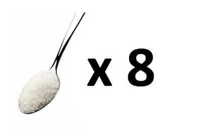 <strong>Answer: A - 8 teaspoons of sugar</strong>
