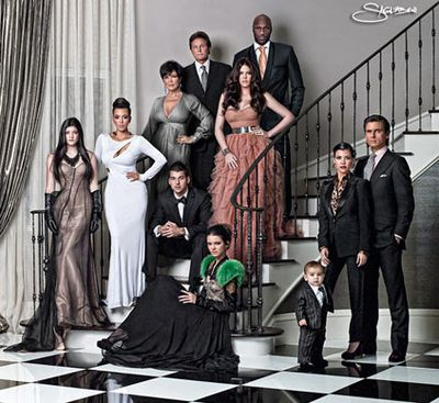 The Kardashian family's 2010 holiday snap was so intensively airbrushed, it could have passed for a Madame Tussaud's family reunion!