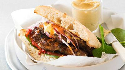 """<a href=""""http://kitchen.nine.com.au/2016/05/16/17/36/middle-eastern-spiced-lamb-burger"""" target=""""_top"""">Middle Eastern spiced lamb burger</a> recipe"""