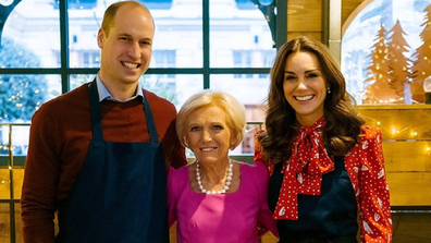 The Duke and Duchess of Cambridge with TV chef Mary Berry.