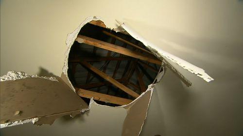 The alleged burglar fell through the roof of a Sunbury home.