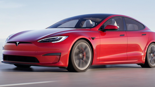 Tesla Model S (pictured) drivers can activate traffic-aware cruise control at the currently detected speed limit by pulling the Autopilot stalk on the steering wheel toward them