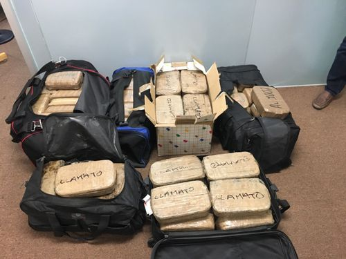 The seized drugs. (Supplied)