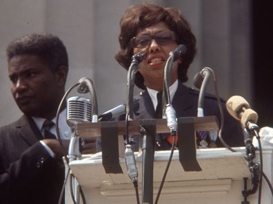Josephine Baker speaks at the March on Washington, 1963.