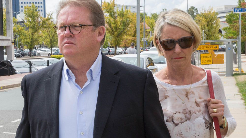 Brumbies CEO Michael Jones leaves court after fighting to keep his job.