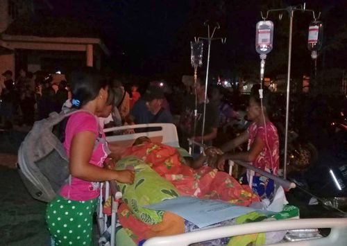 Disaster agency spokesman Sutopo Purwo Nugroho said in a TV interview that the tsunami hit Palu, the capital of central Sulawesi province, and a smaller city, Donggala.